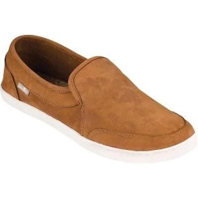 サヌーク レディース スニーカー シューズ Sanuk Women's Pair O Dice Leather Shoe Tobacco Brown