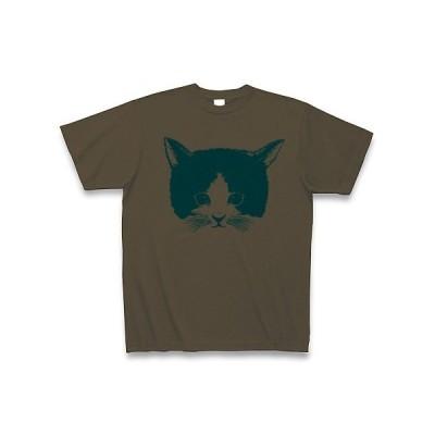 水色こねこ Tシャツ(オリーブ)