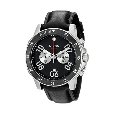 Nixon Men's A940000-00 Ranger Chrono Leather Analog Display Quartz Black Watch
