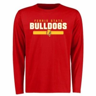 Fanatics Branded ファナティクス ブランド スポーツ用品  Ferris State Bulldogs Red Team Strong Long Sleeve T-Shirt