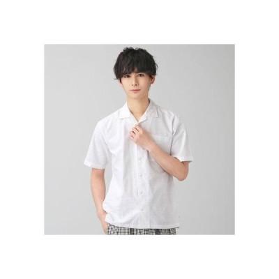 トーキョーシャツ TOKYO SHIRTS オープンカラー カジュアル半袖シャツ (ホワイト)