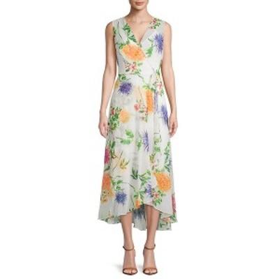 カルバンクライン レディース ワンピース トップス Calvin Klein Floral Sleeveless Wrap Dress -