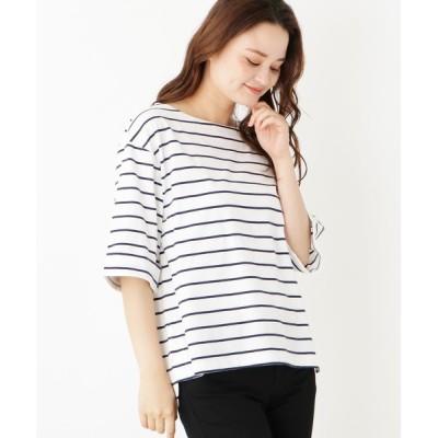 WORLD ONLINE STORE SELECT / スーピマコットン(綿)折り返しスリーブプルオーバー WOMEN トップス > Tシャツ/カットソー