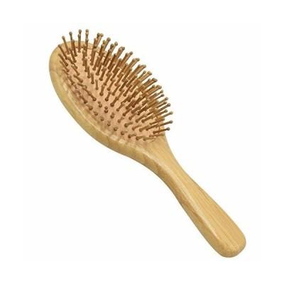 ZAZOU 天然 木製櫛 ヘアブラシ ヘアケア クッション ブラシ サラサラ 艶髪 バドルブラシ 美髪ケア 頭皮マッサー
