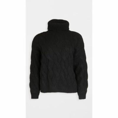 ライン アンド ドット Line and Dot レディース ニット・セーター ケーブルニット トップス Aimee Cable Knit Sweater Black