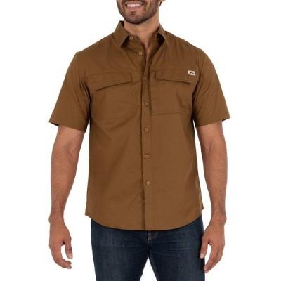 ウェルズ ラモント シャツ トップス メンズ Men's Short Sleeve Ventilated Back Flex Performance Ripstop Work Shirt Brown