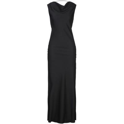 カルラ ジー CARLA G. ロングワンピース&ドレス ブラック 42 アセテート 68% / レーヨン 31% / ポリウレタン 1% ロングワ