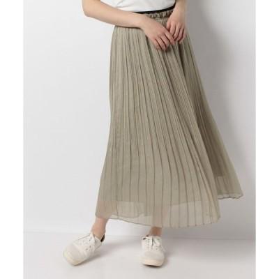 【テチチ】【Techichi TERRASSE】楊柳シフォンプリーツスカート(着丈88cm)