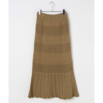 ウィゴー(レディース)(WEGO)/透かし編みニットスカート