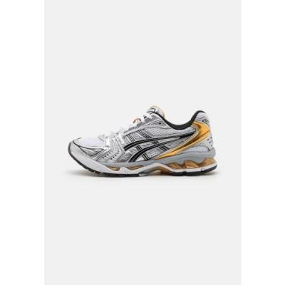 アシックス メンズ 靴 シューズ GEL-KAYANO 14 UNISEX - Trainers - white/pure gold