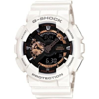 カシオ Gショック G-SHOCK ジーショック メンズ 20気圧防水 アナログ デジタル アナデジ メタリック ホワイト 即納 GA-110RG-7A 腕時計