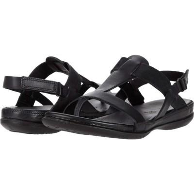 エコー ECCO レディース サンダル・ミュール シューズ・靴 Flash T-Strap Sandal Black/Black Cow Leather/Cow Nubuck