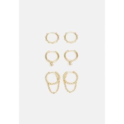 バウブルバー ピアス&イヤリング レディース アクセサリー 3 PACK - Earrings - gold-coloured
