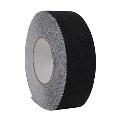 GUUZI すべり止め テープ、ノンスリップテープ滑り止めテープ屋外 屋内 階段 脚立 用(5cm x 長さ20m・黒)