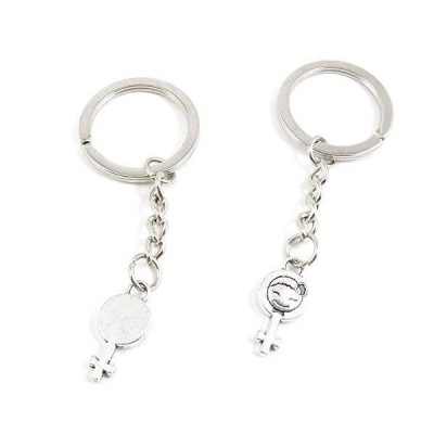 100 Pieces Keychains Keyrings Party Supplies Favors Wholesale U3CZ3R Female