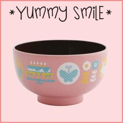 ヤミースマイル 汁椀 ピンク