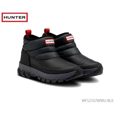 ハンター HUNTER レディース オリジナル インシュレイティド アンクル スノー ブーツ: ブラック 国内正規品  WFS2107WWU BLK