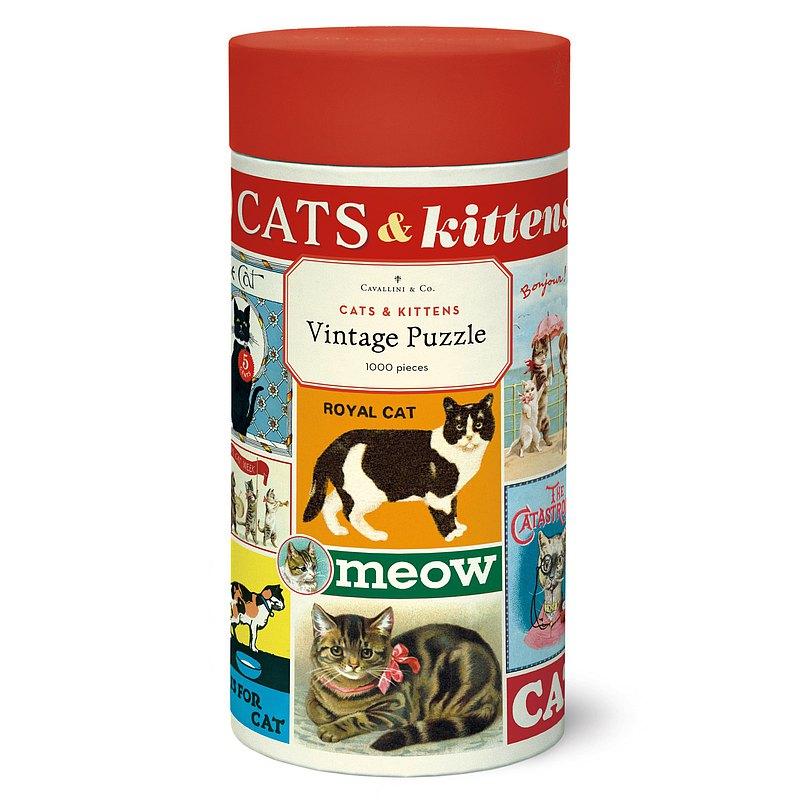 Cavallini 1000片拼圖 貓 Cats & Kittens 千片拼圖 | 預購