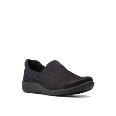 クラークス サンダル シューズ レディース Cloudsteppers Women's Sillian Bliss Loafers Black Textile