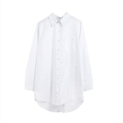 シャツトップス長袖レディース白シャツゆったりフレアドロップショルダーオフィスビジネスおしゃれきれいめ上品カジュアル30代40代
