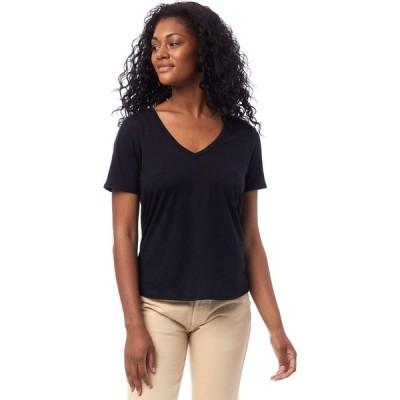 オルタナティヴ Alternative レディース Tシャツ Vネック トップス Organic Cotton V-Neck Tee True Black