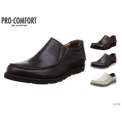 madras マドラス プロ コンフォート PRO-COMFORT PC342 メンズ カジュアルシューズ 幅広 スリッポン 靴