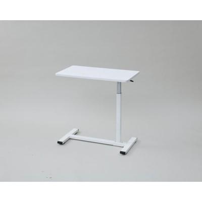YAMAZEN レバー式昇降テーブル /PCデスク 幅700×奥行400×高さ600〜950mm 木目ホワイト KUT-7040(GWH) 1台(直送品)