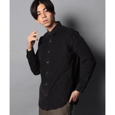 【コエ(メンズ)】コーデュロイ 両玉縁ポケットシャツ