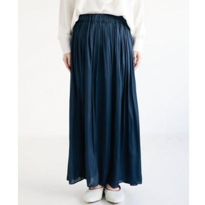 【ミューカ/MJUKA.】 サテンギャザーマキシスカート