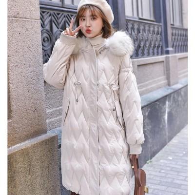 おしゃれ ロングコート いい品質 5色 フェイクファーフード付き 秋冬 レディース 防風 防寒対策 通勤 OL 流行り 軽量 中綿 冬物 厚手 着痩せ ダウンコート 保温