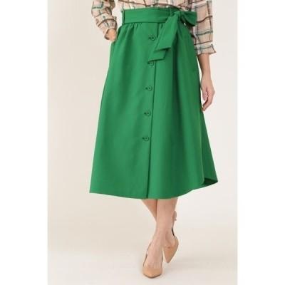 スカート [ウォッシャブル]フロントボタンスカート