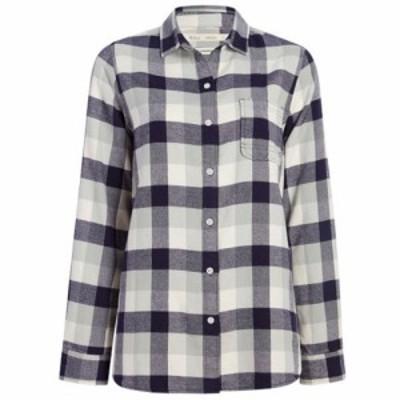 ウールリッチ Woolrich レディース チュニック トップス Pemberton Eco-Rich Boyfriend Tunic Shirt Outer Space Check