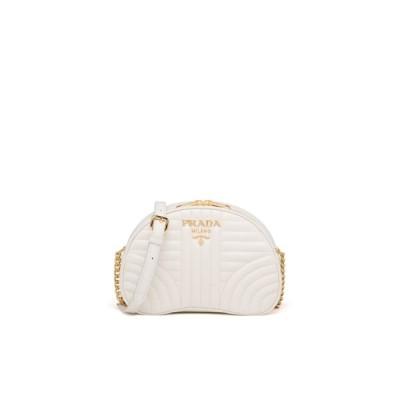 プラダ PRADA バッグ バック ショルダーバッグ ビアンコ ホワイト ゴールド キルティング カーフレザー