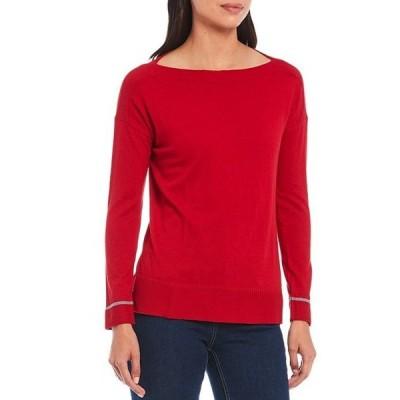 ジュールズ レディース パーカー・スウェット アウター Vivianna Boat Neck Rib Trim Long Sleeve Sweater