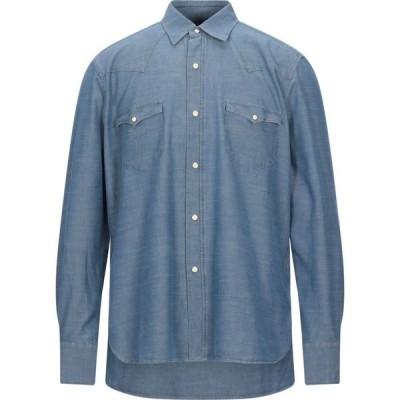 バグッタ BAGUTTA メンズ シャツ デニム トップス denim shirt Blue