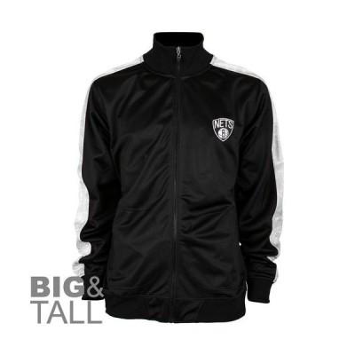バスケットボール NBABrooklyn Nets Big & Tall Zipway Blueprint Full Zip Track Jacket - Black