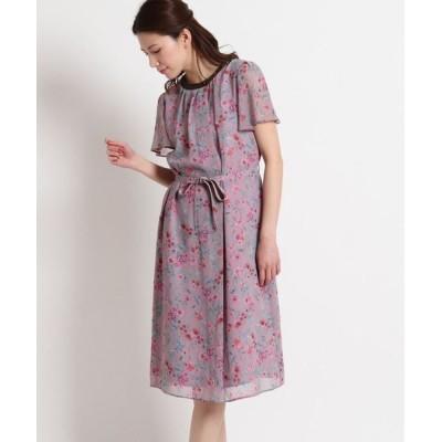 SunaUna/スーナウーナ 【洗える】フレアスリーブ花柄ワンピース ピンク(172) 36(S)