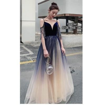 パーディードレス ウエディングドレス ロング丈ドレス 大きいサイズ プリンセスドレス 上品 セクシー 二次会 花嫁 結婚式 成人式 謝恩会 発表会 卒業式 食事会