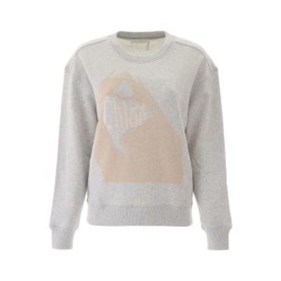 CHLOE/クロエ トレーナー LIGHT GREY Chloe logo sweatshirt レディース CHC20SJH01085 ik