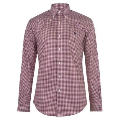 ラルフ ローレン Polo Ralph Lauren メンズ シャツ トップス Check Shirt Burgundy/White