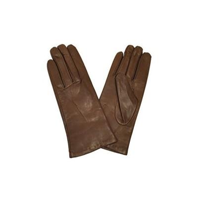 [アントニオ・ムローロ] Antonio Murolo 本革手袋 イタリア製 レディース シンプル レザーグローブ 羊革 (6.5 ハバナブラウン)