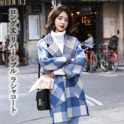 レディース コート チェスターコート 大きいサイズ ボーダー柄 チェック柄  長袖 アウター 秋 冬 ファッション