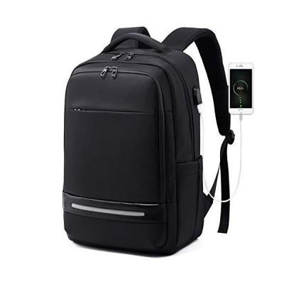 NiubiyaDbeib Men's Backpack New Backpack Simple Computer Bag Casual Backpack Business Backpack USB (Color : Black)【並行輸入品】