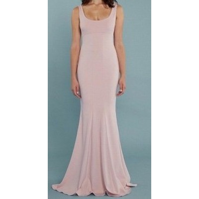 May  ファッション ドレス Katie May NEW Pink Scoop Neck Sleeveless Womens Size 10 Chiffon Gown