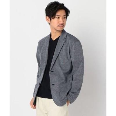 ジャケット テーラードジャケット 麻混合繊 ライト 2つボタン テーラードジャケットカーディガン