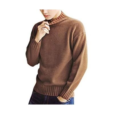 セーター メンズ 冬服 おしゃれ タートルネック ニットセーター メンズ 無地 シンプル ニットカジュアル プルオーバー トップス 暖かい 大きいサイ