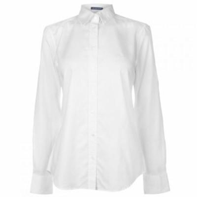 ガント Gant レディース ブラウス・シャツ トップス Oxford Shirt WHITE
