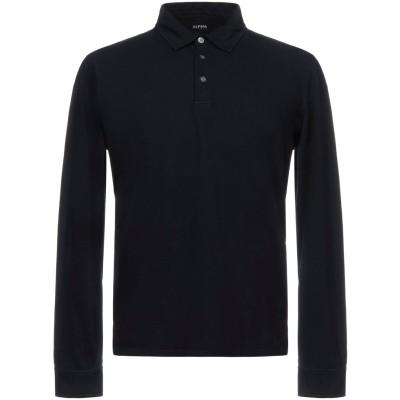 アルファスタジオ ALPHA STUDIO ポロシャツ ダークブルー 46 95% コットン 5% ポリウレタン ポロシャツ