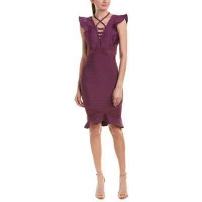ファッション ドレス Wow Couture Sheath Dress L Purple