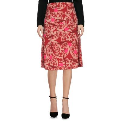 マニラ グレース MANILA GRACE ひざ丈スカート レンガ 38 100% ポリエステル ひざ丈スカート